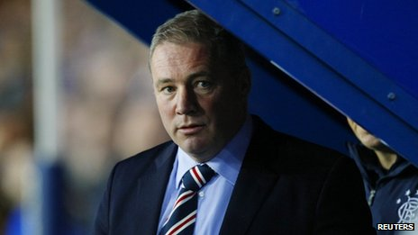 Ally McCoist in the dugout on Wednesday