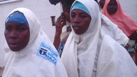 Nigerian women who had intended to do the Hajj - Wednesday 26 September 2012