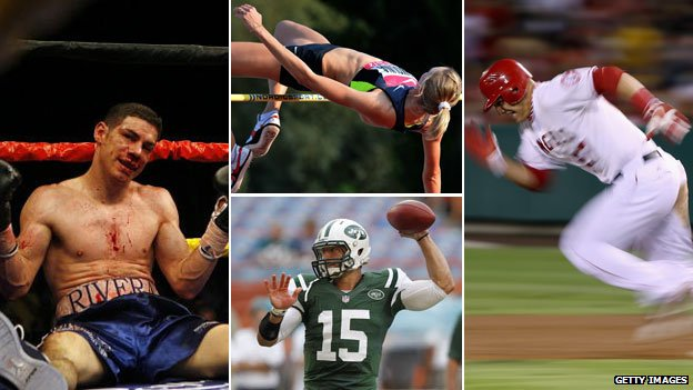 Boxer, high jumper, baseball player, American football quarterback