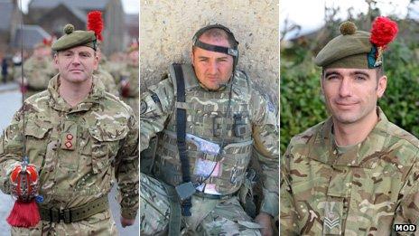 Col Edward Fenton, Sgt Daniel Buist and Sgt Ian Smith