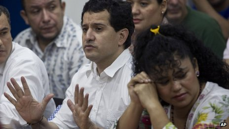 Henry Farinas and other suspects on trial in Managua