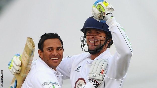 Usman Khawaja (left) and Ross Whiteley