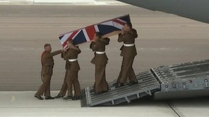 Body of a soldier is repatriated