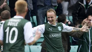 Hibernian forward Leigh Griffiths