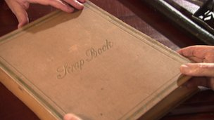 There is an original scrap book that details the drama and intrigue of the 1914 loyalist gun running.