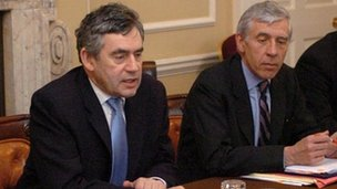 Gordon Brown and Jack Straw