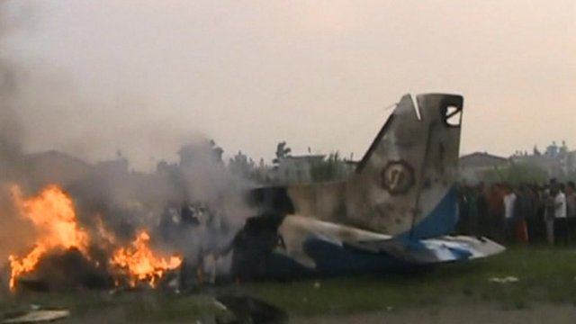 Aftermath from the plane crash