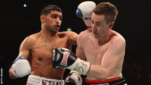 Amir Khan (left) and Paul McCloskey