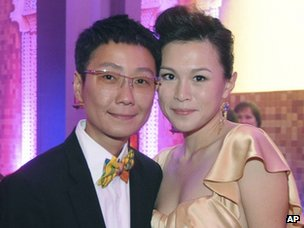 Hong Kong corporation heiress Gigi Chao (right) with her wife Sean Eav.