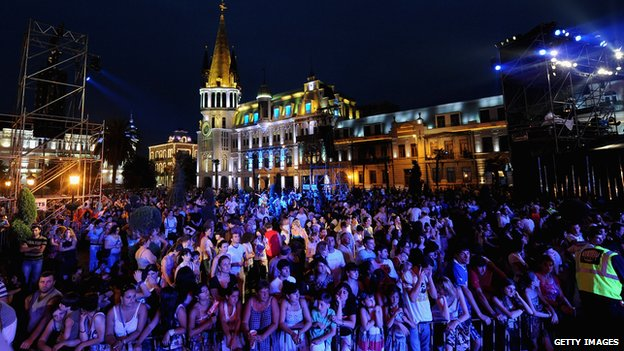 A concert hosted by MTV in Batumi
