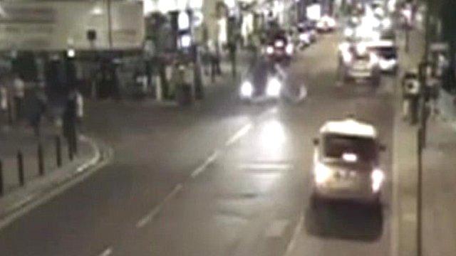 CCTV of hit-and-run