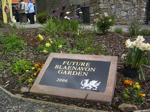 Blaenavon community garden