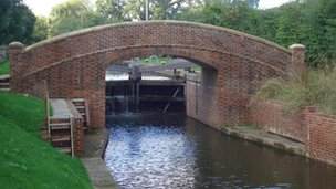 Horse bridge at new lock