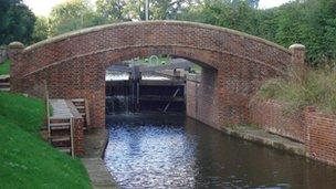 Horse bridge at new lock