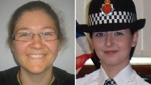 PC Fiona Bone and PC Nicola Hughes who were killed in an attack in Mottram