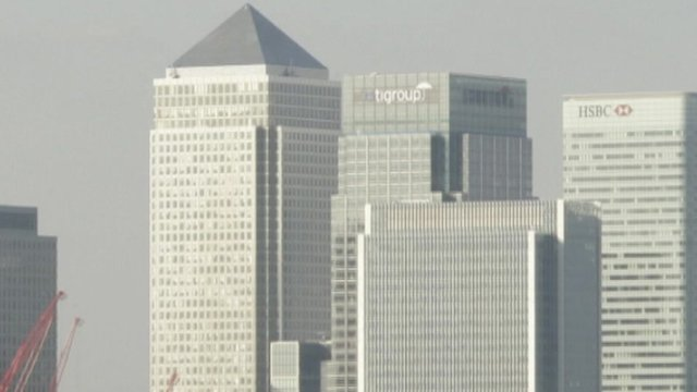 Buildings in London&#039;s banking area
