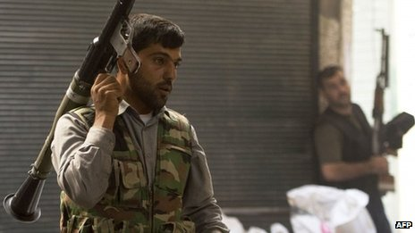 Rebel fighter in Aleppo, 28 September