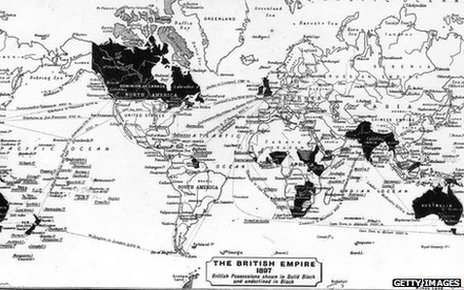 Map of the British Empire in 1897