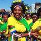Women dressed in Zulu traditional attire in Durban, South Africa - Monday 24 September 2012