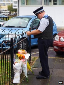 Tributes left for teenager on the estate