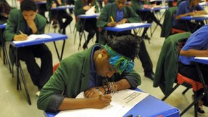 GCSE exam in progress