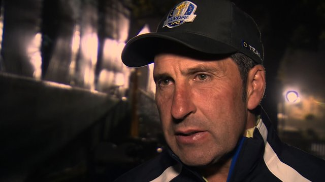European captain Jose Maria Olazabal