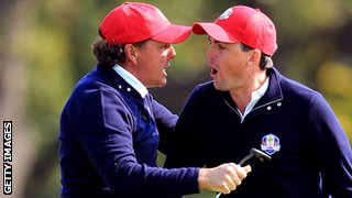 Phil Mickelson and Keegan Bradley