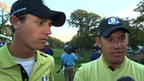 Europe's Nicolas Colsaerts and Lee Westwood