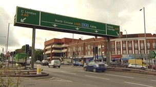 Hanger Lane gyratory system