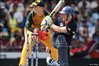 Eoin Morgan slog-sweeps Steve Smith