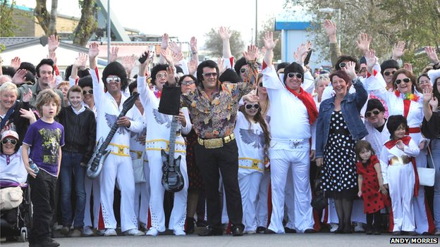 Elvis Presley impersonators in Porthcawl