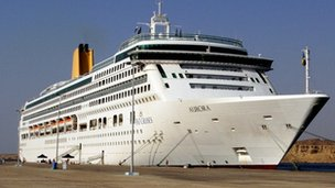 File photo dated December 2007 of the P&amp;O cruise liner Aurora in Southampton Docks, Hampshire