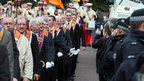 Orangemen watched by police