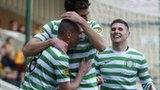 Celtic celebrate at Fir Park