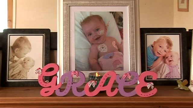 Photographs of baby Grace