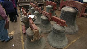 Damaged bells in Loughborough