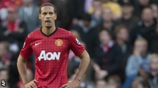 Rio Ferdinand in action for Manchester United