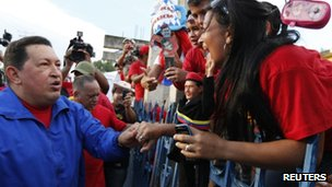 Hugo Chavez in Zulia state - 30 September