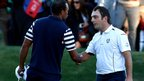 Tiger Woods and Franceso Molinari