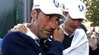 Jose Maria Olazabal with Justin Rose