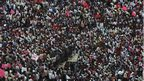 Pro-Telangana supporters take part in a protest in the southern Indian city of Hyderabad September 30, 2012