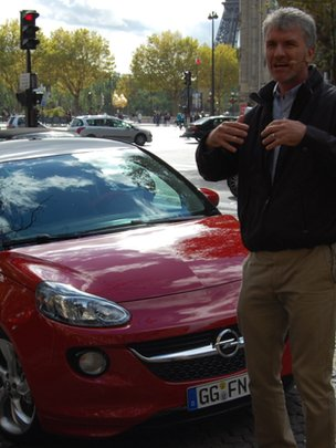 Opel&#039;s design chief Mark Adams with the Opel Adam