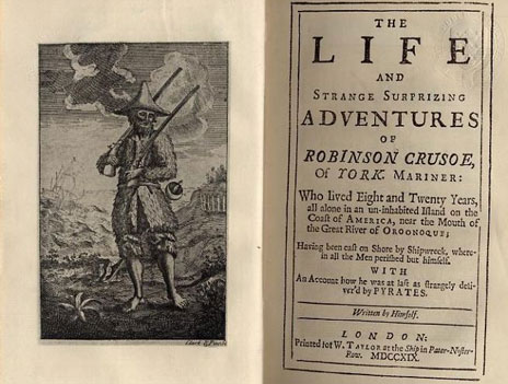 Robinson Crusoe, first edition