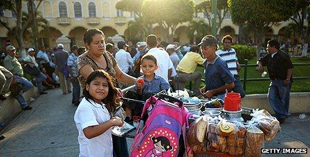 Coffee seller in San Salvador