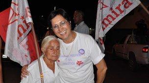 Jalmira Ghanem, municipal canditate in Montividiu, city in Goias state (centre of Brasil)