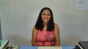 Regina Ramos, municipal candidate in Joaquim Pires, city in Piauí state, northeast of Brazil