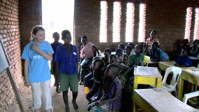 Martha Payne visits a school in Malawi