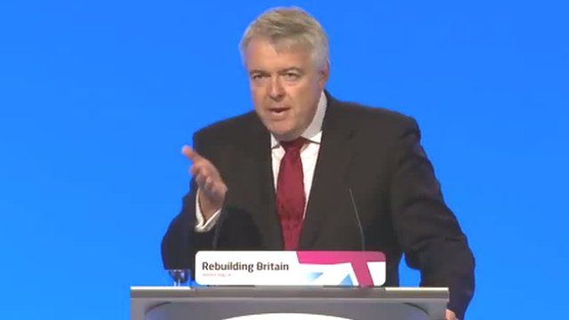 Carwyn Jones at the 2012 Labour Party Conference