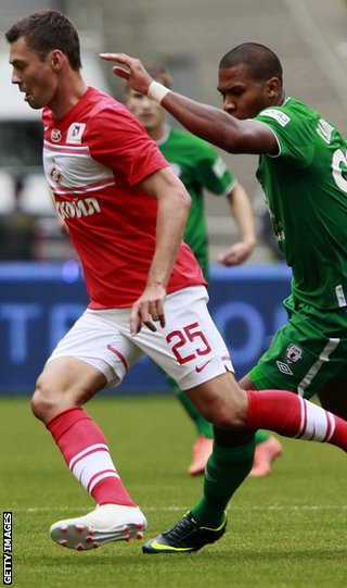 Diniyar Bilyaletdinov in action for Spartak Moscow