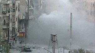 Unverified picture of bombardment of Aleppo (1 Oct 2012)